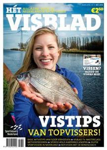 Tekenkaart Nederland in Visblad