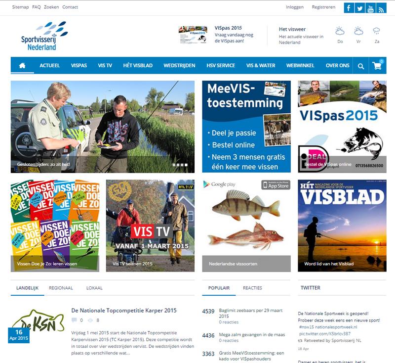 Nieuwe website SportvisserijNederland