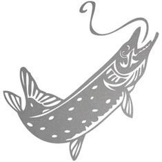 Sticker Snoek groot (25 x 25 cm)