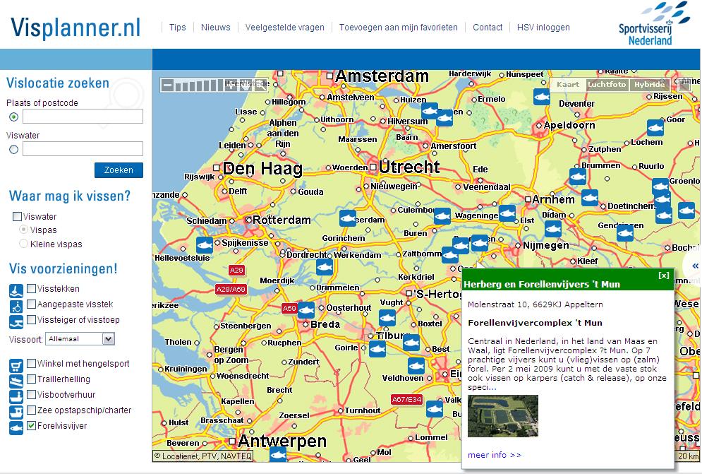 Sportvisserij Nederland - Visplanner verder verbeterd