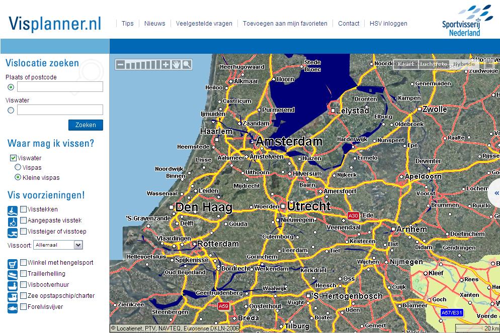 Sportvisserij Nederland - Visplanner vernieuwd en verbeterd